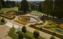 Aerial view of the parterre at Waddesdon Manor
